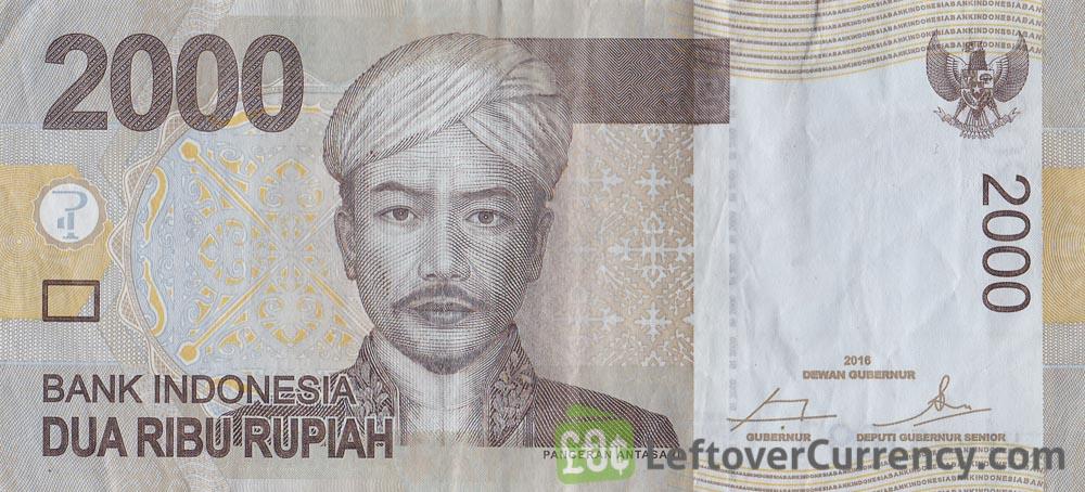 2000 Indonesian Rupiah Banknote Prince Antasari