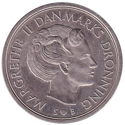 5 Danish Kroner coin Margrethe II