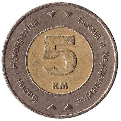 5 Marka Bosnian Convertible Mark coin