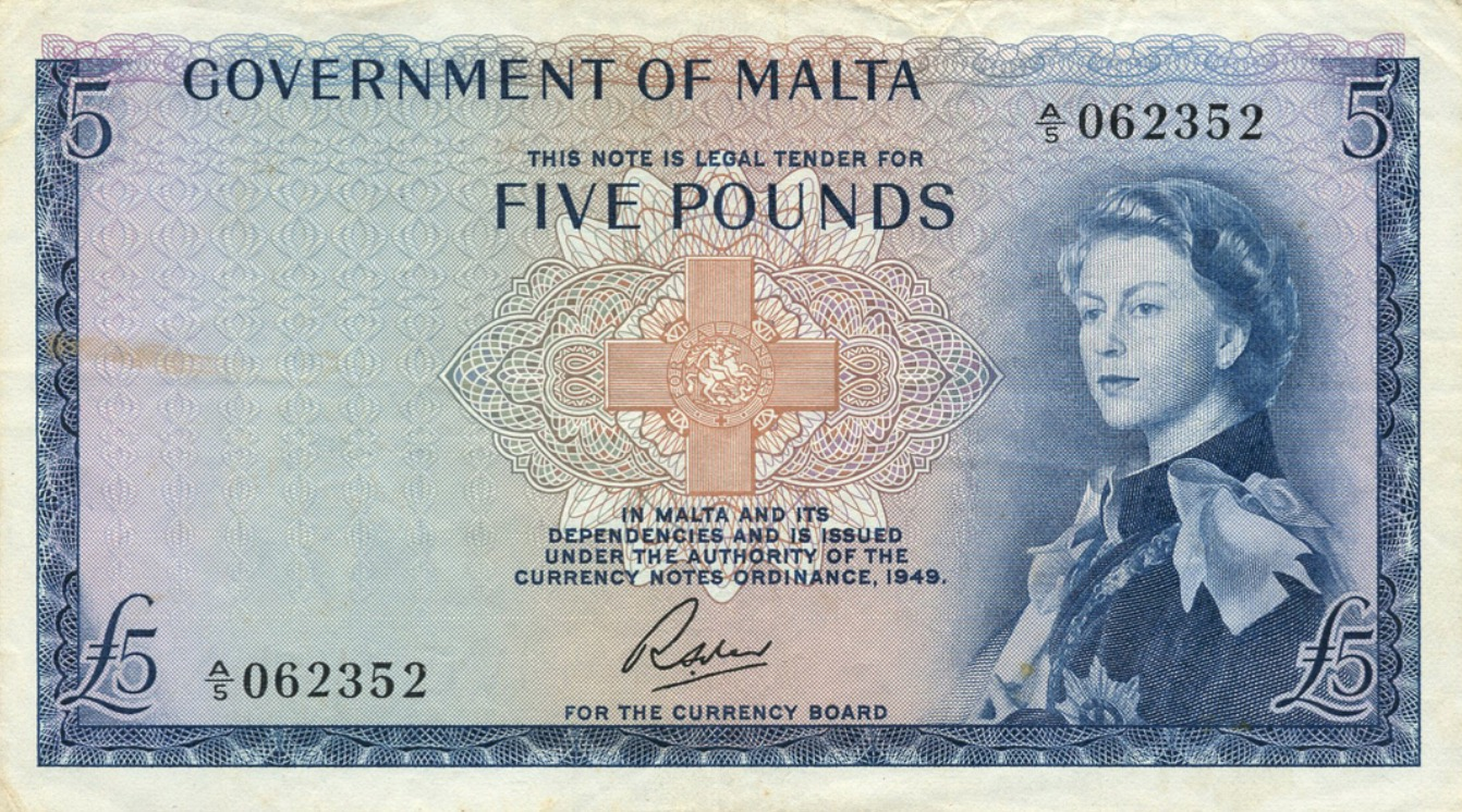 5 Pounds banknote (Government of Malta)