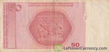 50 Konvertible Marks banknote Bosnian-Croatian (2007-2009 version)