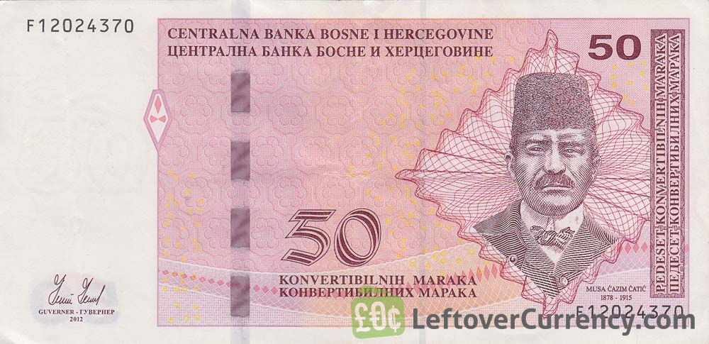 50 Konvertible Marks banknote Bosnian-Croatian (holographic thread)