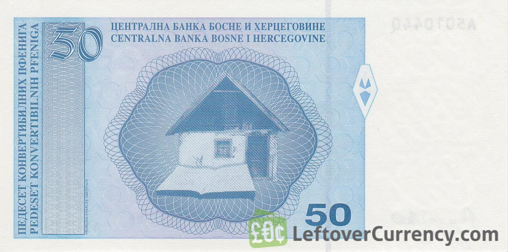 50 Konvertible Pfeniga banknote (Republika Srpska version)