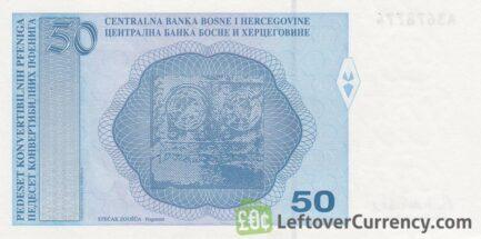 50 Konvertible Pfeniga banknote