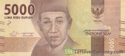 5000 Indonesian Rupiah banknote (2016 issue)