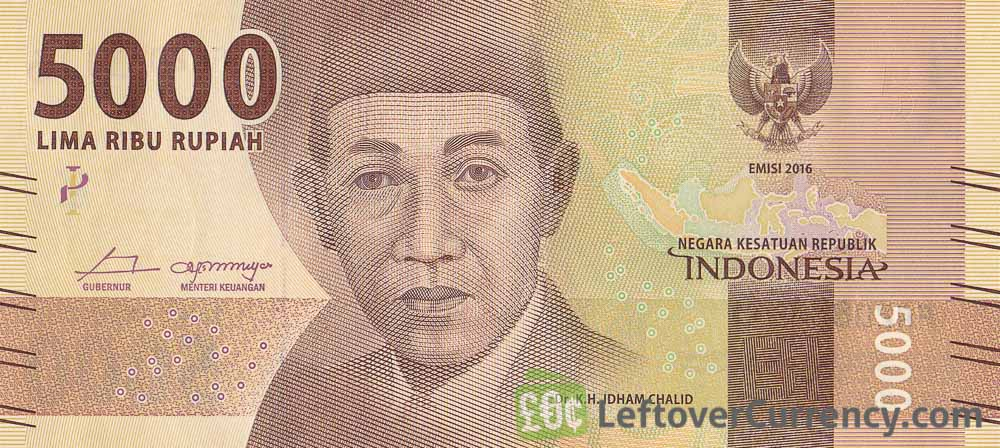 5000 Indonesian Rupiah Banknote 2016 Issue