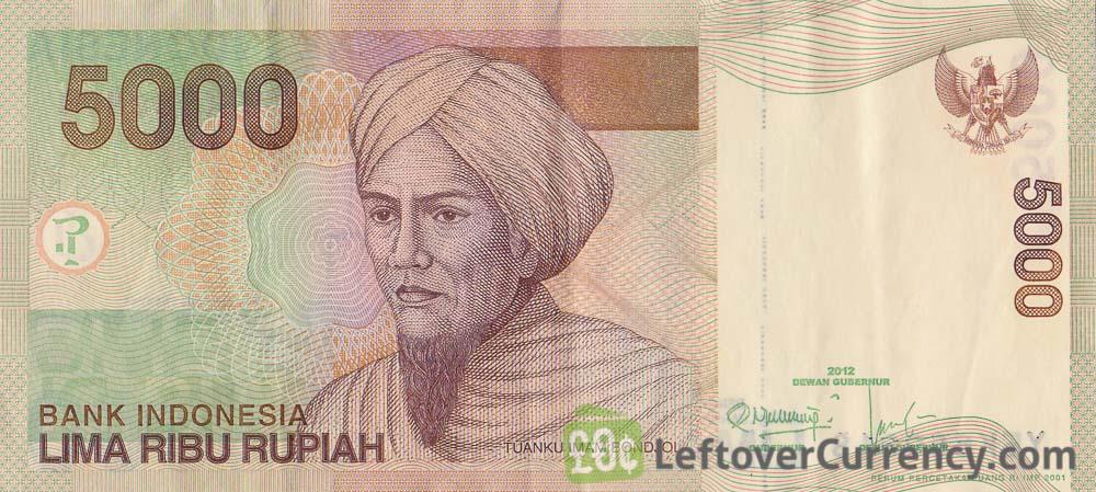5000 Indonesian Rupiah Banknote Tuanku Imam Bonjol