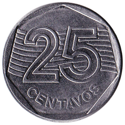 Brazil 25 Centavos coin first series