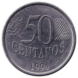 Brazil 50 Centavos coin first series