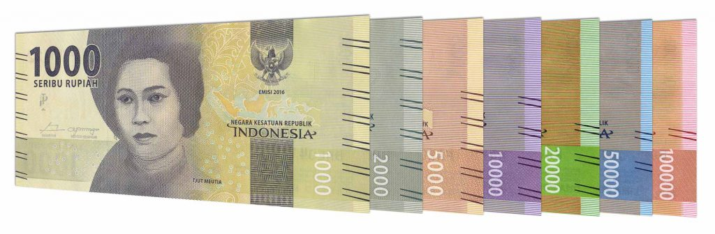current Indonesian Rupiah banknotes Emisi 2016