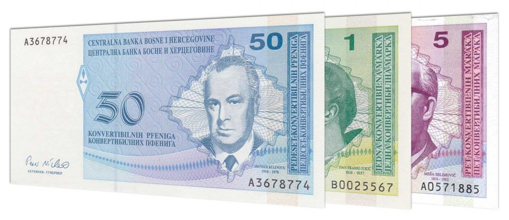 withdrawn Bosnia and Herzegovina banknotes