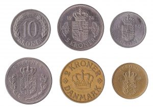 withdrawn Danish Kroner coins