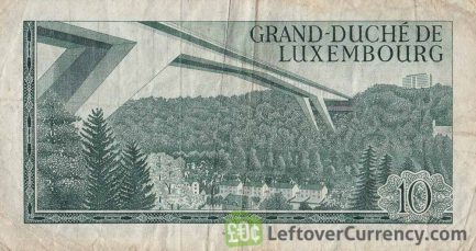 10 Luxembourg Francs banknote 1967