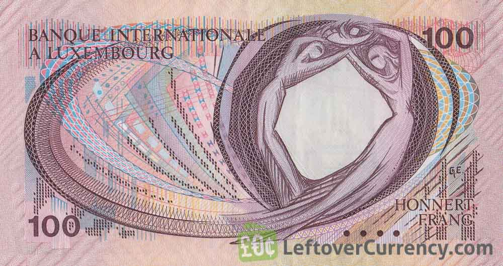 100 Francs banknote Banque Internationale à Luxembourg 1981