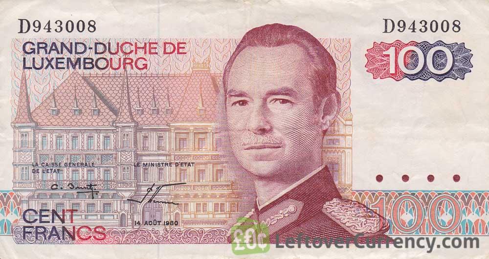 100 Francs banknote Grand Duché de Luxembourg