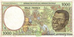 1000 francs banknote Central African CFA (1993 to 2002 issue)