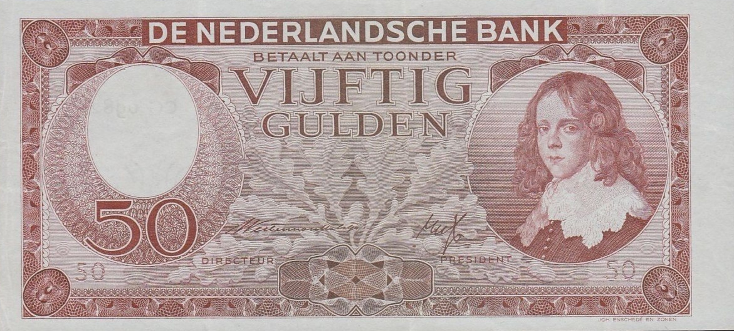 50 Dutch Guilders banknote (Willem III)