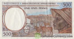 500 francs banknote Central African CFA (1992 to 2002 issue)