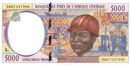 5000 francs banknote Central African CFA (1994 to 2002 issue)