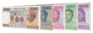 current Central African CFA franc banknotes accepted for exchange