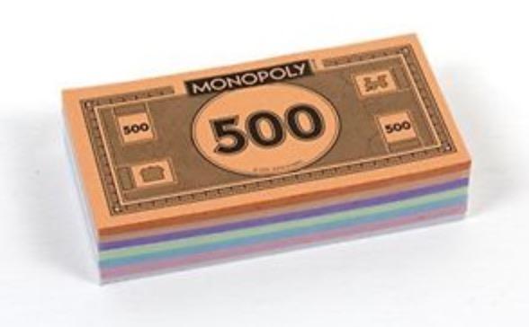 Monopoly money banknotes