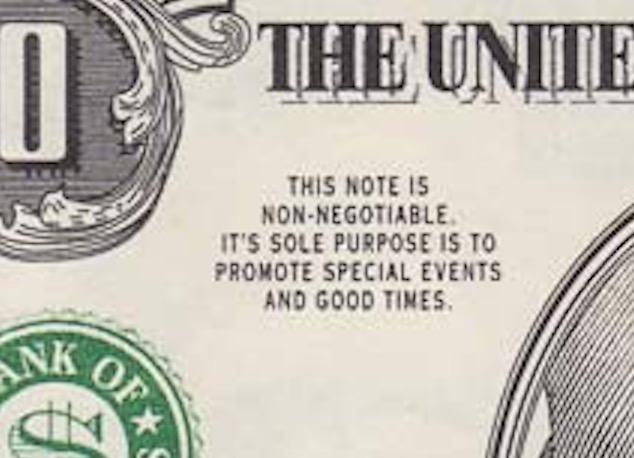 one Million dollar banknote closeup