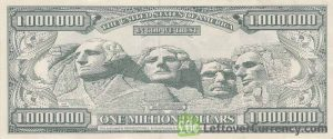 1 million dollar banknote reverse