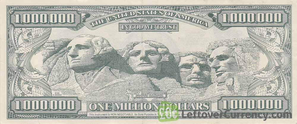 image relating to Fake Million Dollar Bill Printable identified as A single Million Greenback invoice - United states of america novelty banknotes - Leftover