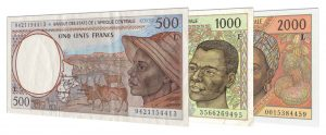 withdrawn Central African CFA franc banknotes