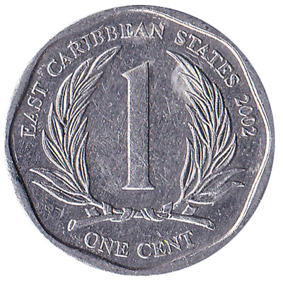 1 cent coin East Caribbean States