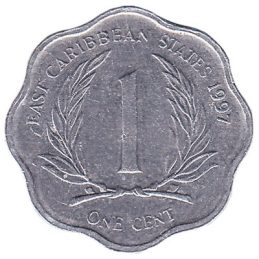 1 cent coin East Caribbean States (scalloped)