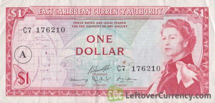 1 East Caribbean dollar banknote (1965 issue)