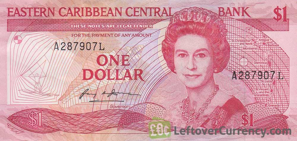 1 Eastern Caribbean dollar banknote (Swordfish)