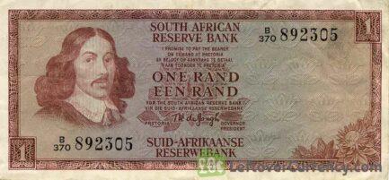 1 South African Rand banknote (van Riebeeck framed)