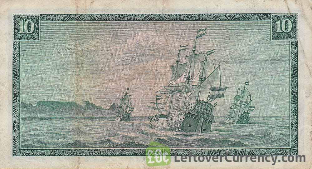 10 South African Rand banknote (van Riebeeck framed)