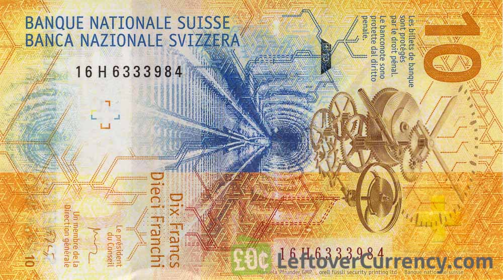 10 Swiss Francs banknote (9th Series)