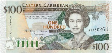 100 Eastern Caribbean dollars banknote (first issue)