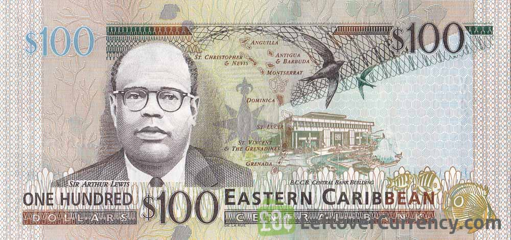 100 Eastern Caribbean dollars banknote (holographic security thread)