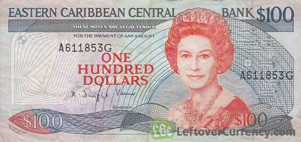 100 Eastern Caribbean dollars banknote (Swordfish)