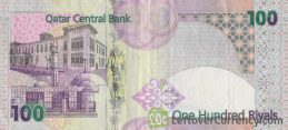 100 Qatari Riyals banknote (Fourth Issue with transparent window)