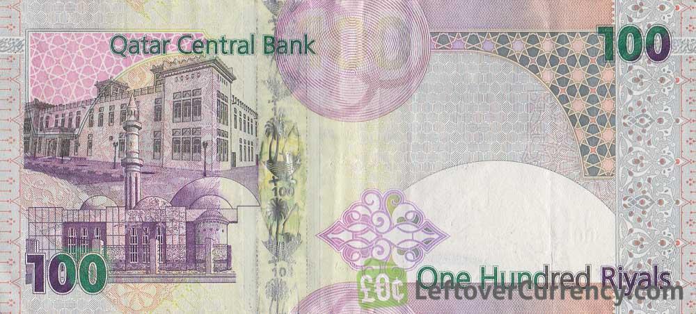 100 Qatari Riyals banknote (Fourth Issue with transparent window)