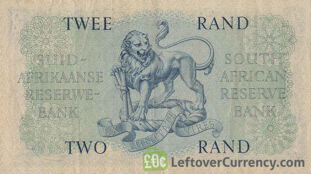 2 South African Rand banknote (van Riebeeck large type)