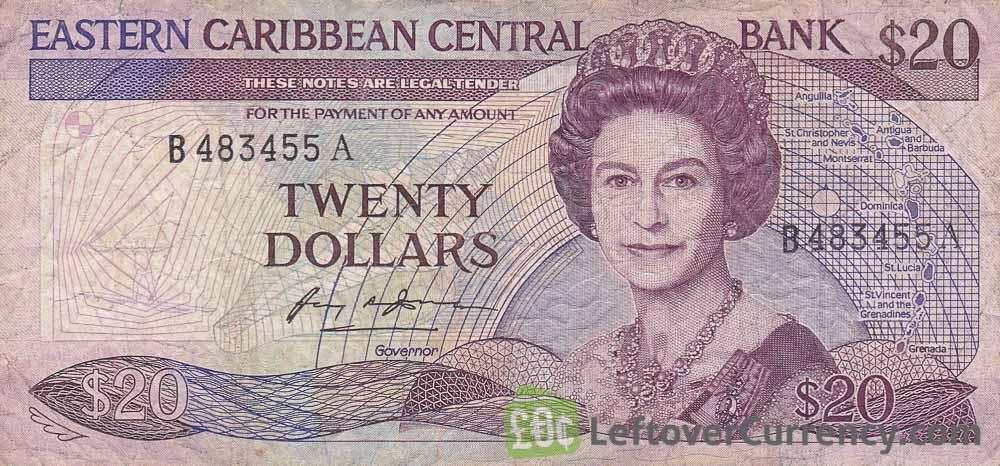 20 Eastern Caribbean dollars banknote (Swordfish)