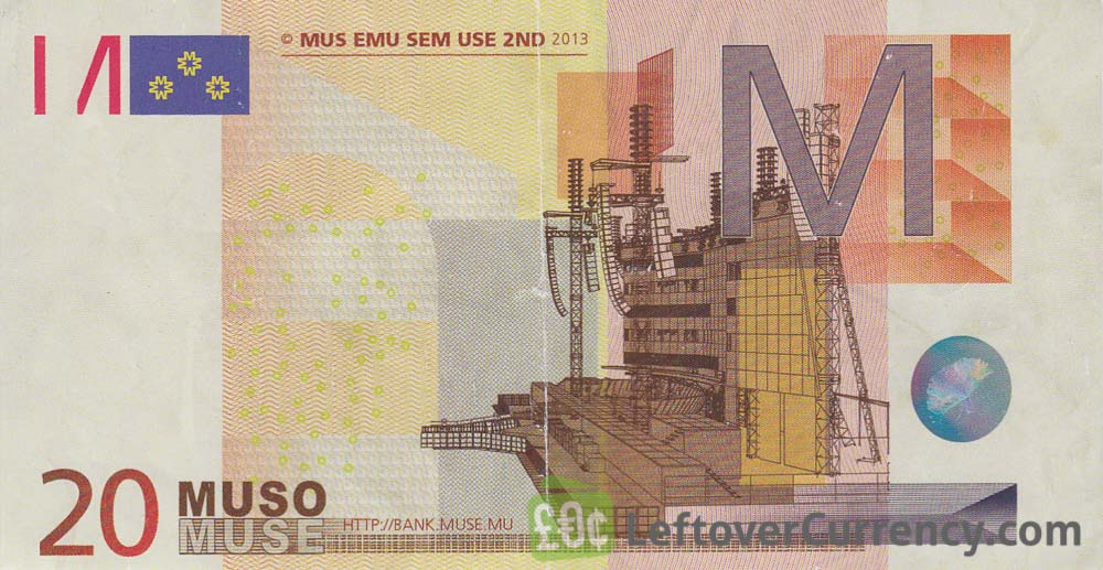 20 Muso banknote Bank of Muse obverse