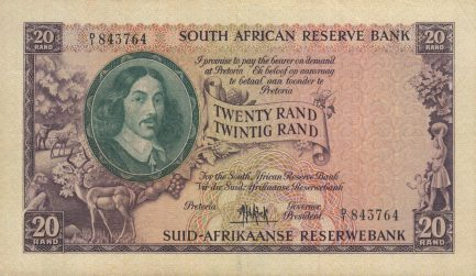 20 South African Rand banknote (van Riebeeck large type)