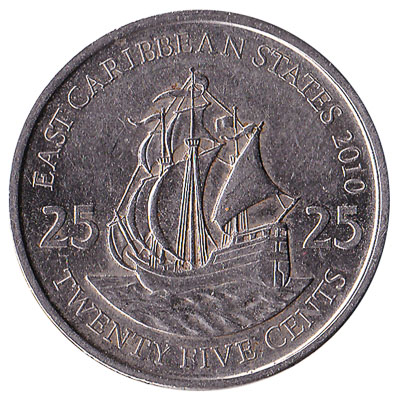 25 cents coin East Caribbean States