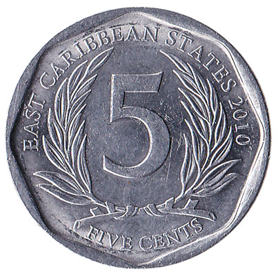 5 cents coin East Caribbean States