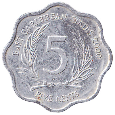 5 cents coin East Caribbean States (scalloped)