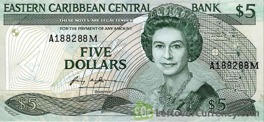 5 Eastern Caribbean dollars banknote (Swordfish)