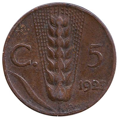 5 Italian Centesimi coin